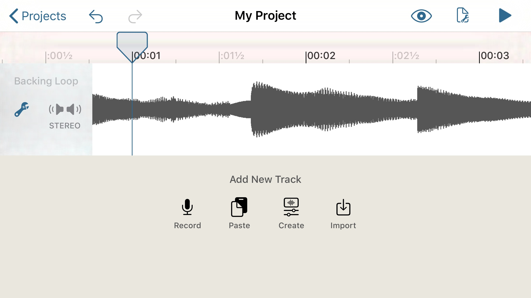 Record or import audio into your project