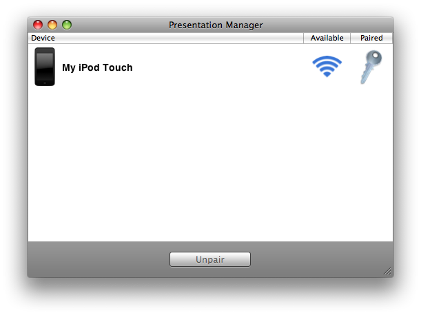 Presentation Manager Screenshot